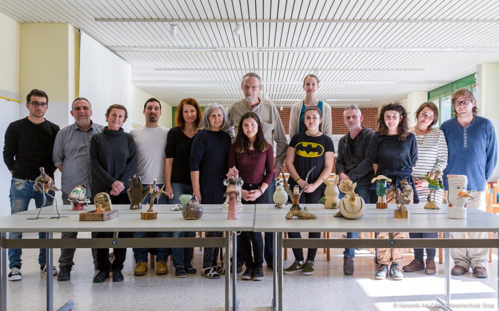 SchülerInnen und ProfesssorInnen der Keramik Art Craft und der Meisterschule, die Jury und die schrägen Vögel