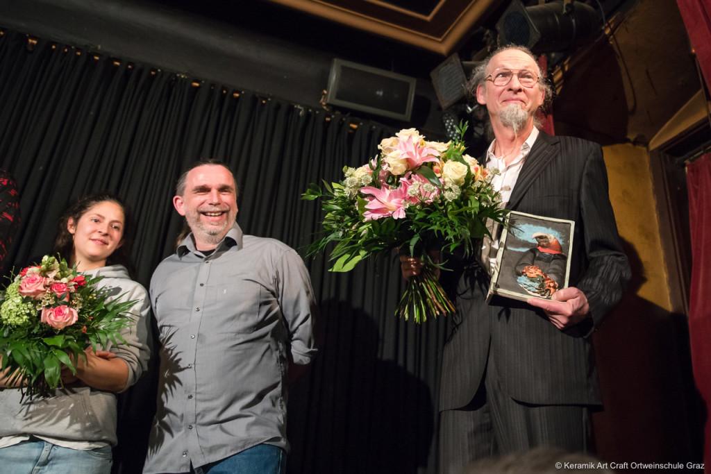 Simon Pichler mit seinem Ehrenvogel