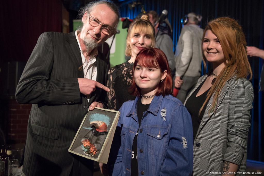 Simon Pichler mit Julia Kaiser, Therese Krutzler und Michelle Rabensteiner